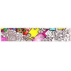 Beautiful Colorful Doodle Flano Scarf (large)