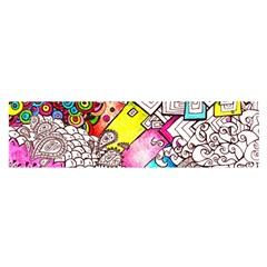 Beautiful Colorful Doodle Satin Scarf (Oblong)