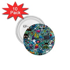 Colorful Drawings Pattern 1 75  Buttons (10 Pack)