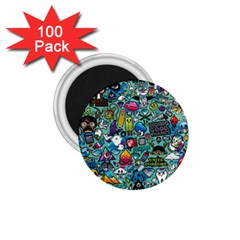 Colorful Drawings Pattern 1 75  Magnets (100 Pack)