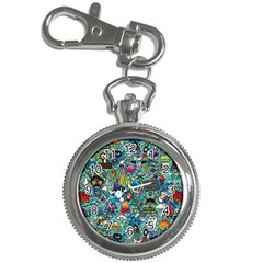 Colorful Drawings Pattern Key Chain Watches