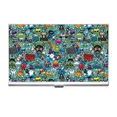 Colorful Drawings Pattern Business Card Holders