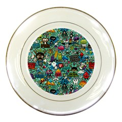 Colorful Drawings Pattern Porcelain Plates