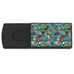 Colorful Drawings Pattern USB Flash Drive Rectangular (4 GB)