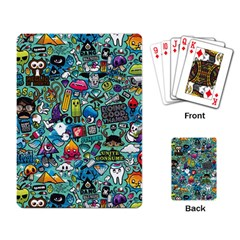 Colorful Drawings Pattern Playing Card