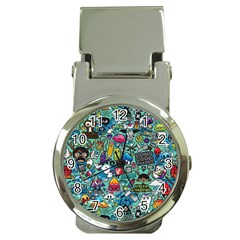 Colorful Drawings Pattern Money Clip Watches