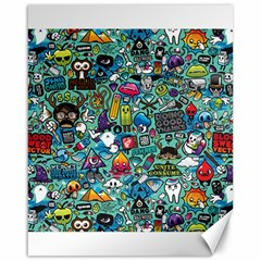 Colorful Drawings Pattern Canvas 16  x 20