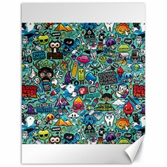 Colorful Drawings Pattern Canvas 18  X 24