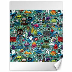 Colorful Drawings Pattern Canvas 36  X 48