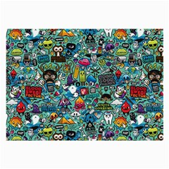 Colorful Drawings Pattern Large Glasses Cloth (2 Side)