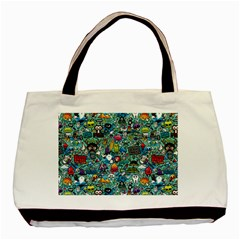 Colorful Drawings Pattern Basic Tote Bag (Two Sides)
