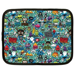 Colorful Drawings Pattern Netbook Case (large)