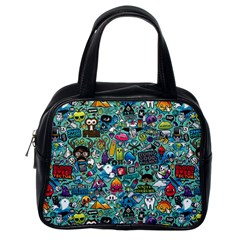Colorful Drawings Pattern Classic Handbags (One Side)