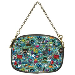 Colorful Drawings Pattern Chain Purses (one Side)