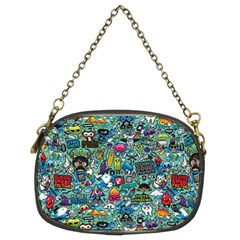 Colorful Drawings Pattern Chain Purses (Two Sides)