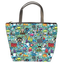 Colorful Drawings Pattern Bucket Bags