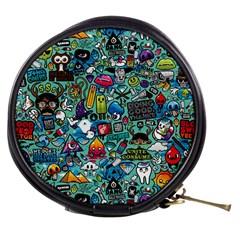 Colorful Drawings Pattern Mini Makeup Bags
