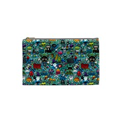 Colorful Drawings Pattern Cosmetic Bag (Small)