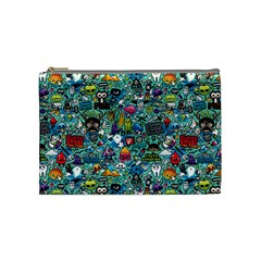 Colorful Drawings Pattern Cosmetic Bag (medium)