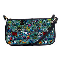 Colorful Drawings Pattern Shoulder Clutch Bags