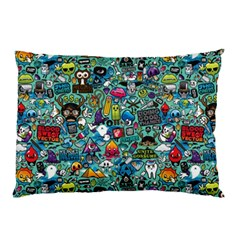 Colorful Drawings Pattern Pillow Case (Two Sides)