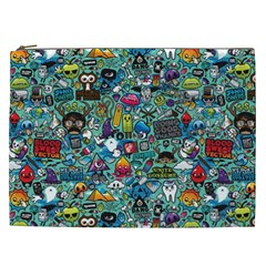 Colorful Drawings Pattern Cosmetic Bag (xxl)
