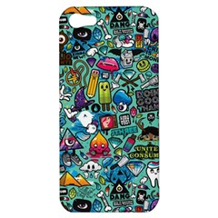 Colorful Drawings Pattern Apple Iphone 5 Hardshell Case