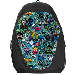 Colorful Drawings Pattern Backpack Bag