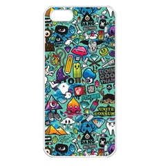 Colorful Drawings Pattern Apple iPhone 5 Seamless Case (White)