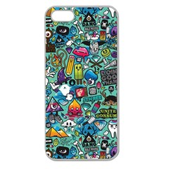 Colorful Drawings Pattern Apple Seamless Iphone 5 Case (clear)