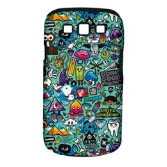 Colorful Drawings Pattern Samsung Galaxy S III Classic Hardshell Case (PC+Silicone)