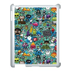 Colorful Drawings Pattern Apple Ipad 3/4 Case (white)