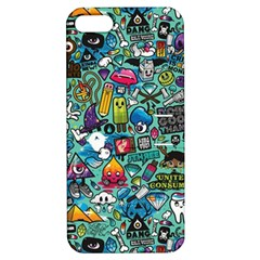Colorful Drawings Pattern Apple iPhone 5 Hardshell Case with Stand