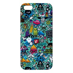 Colorful Drawings Pattern Apple Iphone 5 Premium Hardshell Case