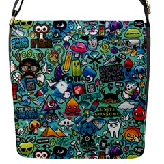 Colorful Drawings Pattern Flap Messenger Bag (S)