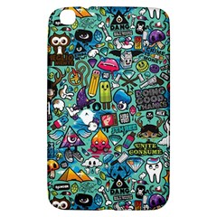 Colorful Drawings Pattern Samsung Galaxy Tab 3 (8 ) T3100 Hardshell Case