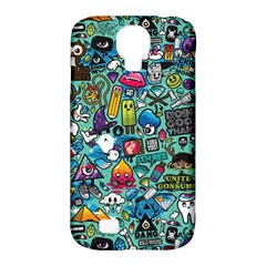 Colorful Drawings Pattern Samsung Galaxy S4 Classic Hardshell Case (pc+silicone)
