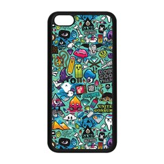 Colorful Drawings Pattern Apple Iphone 5c Seamless Case (black)