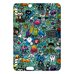 Colorful Drawings Pattern Kindle Fire Hdx Hardshell Case