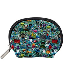 Colorful Drawings Pattern Accessory Pouches (small)