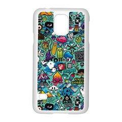 Colorful Drawings Pattern Samsung Galaxy S5 Case (white)
