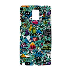 Colorful Drawings Pattern Samsung Galaxy Note 4 Hardshell Case