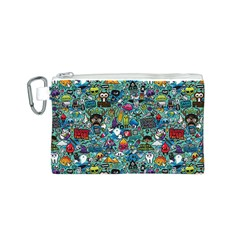 Colorful Drawings Pattern Canvas Cosmetic Bag (s)