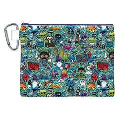 Colorful Drawings Pattern Canvas Cosmetic Bag (XXL)