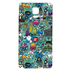 Colorful Drawings Pattern Galaxy Note 4 Back Case