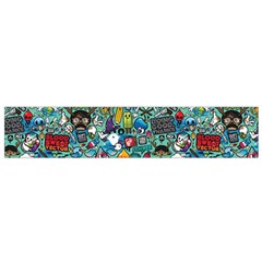 Colorful Drawings Pattern Flano Scarf (Small)