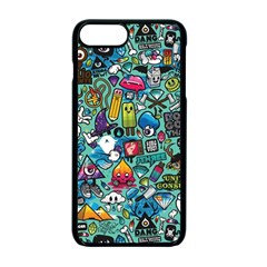 Colorful Drawings Pattern Apple iPhone 7 Plus Seamless Case (Black)