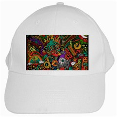 Monsters Colorful Doodle White Cap