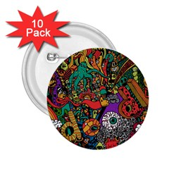 Monsters Colorful Doodle 2.25  Buttons (10 pack)