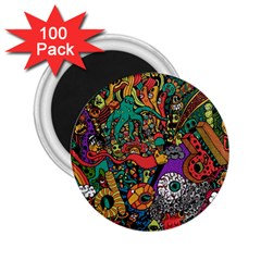 Monsters Colorful Doodle 2 25  Magnets (100 Pack)